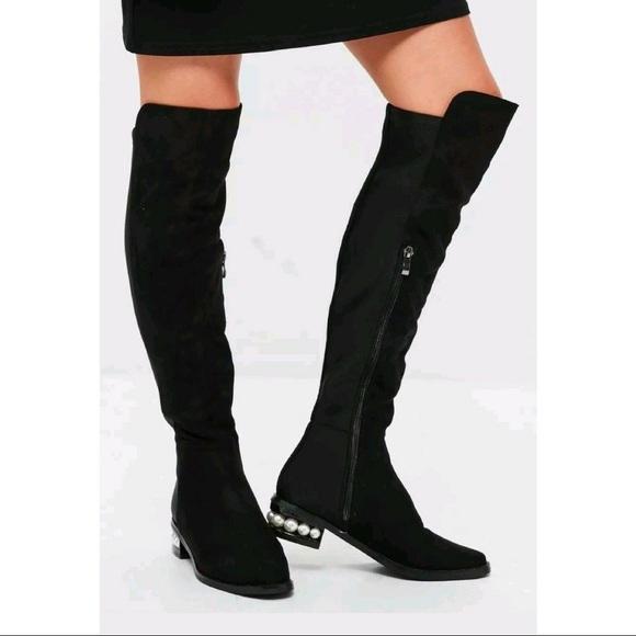 ee585fabf0d Catherine Malandrino Pasta Pearl OTK Black Boots